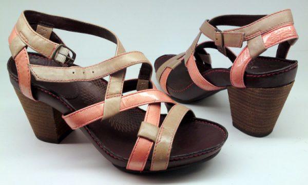 Clarks sandal PAWPAW JUICE naturel combi leather