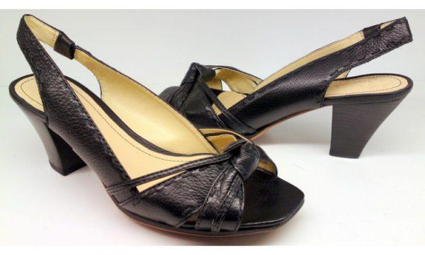 Clarks pumps sandals SPANISH SEA black leather