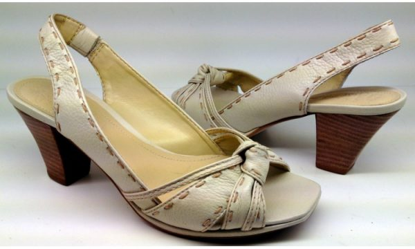 Clarks pumps sandals SPANISH SEA off white leather
