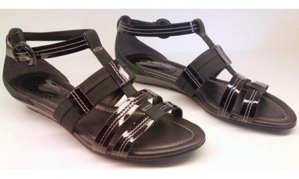 Clarks sandal SUGAR BOWL black patent leather
