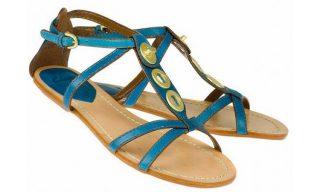 Clarks sandal TEST MARK teal blue leather