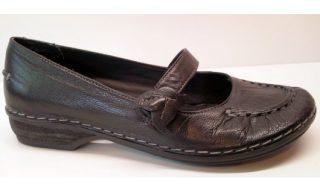 Clarks slip-on HUSKY JADE black leather