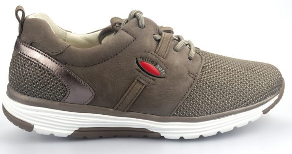 Gabor rollingsoft sensitive 26.975.31 fumo grey nubuck and mesh combi