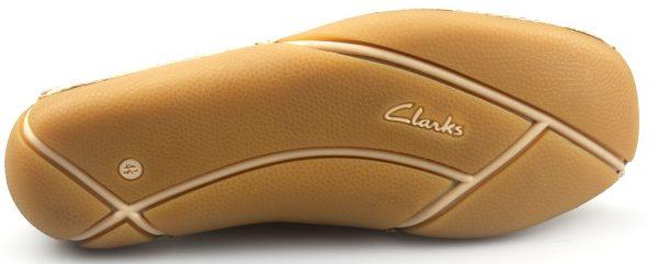 Clarks platte instappers FABULUOS FREE cotton leer