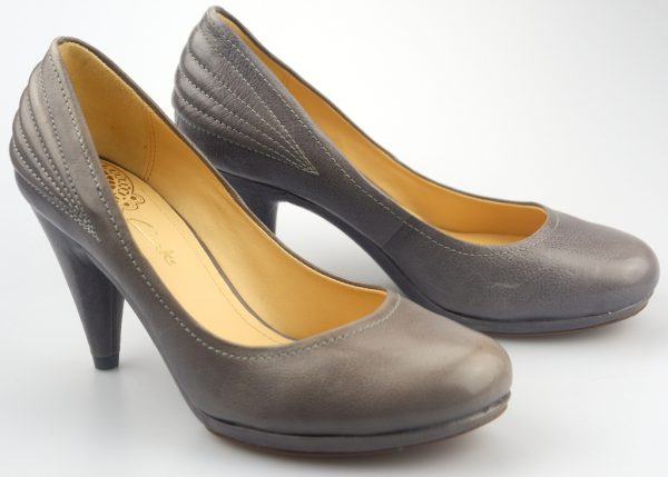 Clarks pumps CAMP FIRE slate grey leather HIGH HEEL