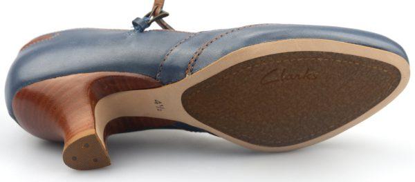 Clarks pumps APPLE SNOW blue leather