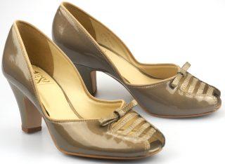 Clarks pumps COCONUT ICE bronze metallic leather