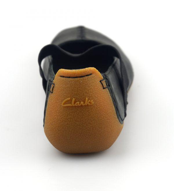 Clarks flat slip-on GRAFFITI COOL black leather