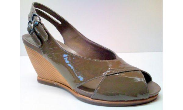 Clarks wedges sandal BALLOT BOX beige patent leather