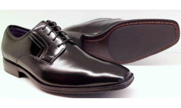 Clarks DECO NIGHT black shine leather