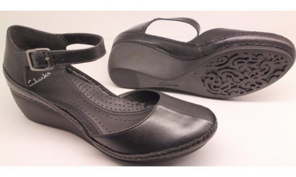 Clarks wedges pumps GENTLE BREEZE black leather