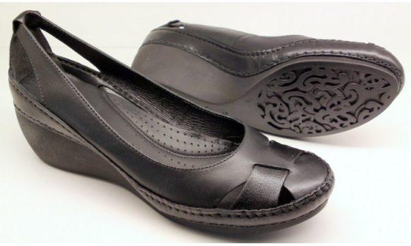 Clarks wedges pumps GENTLE SEA black leather