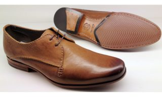 Clarks GOTO EAT tobacco leather