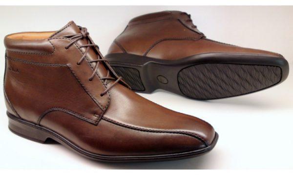 Clarks ankle boots GOYA HI walnut brown leather