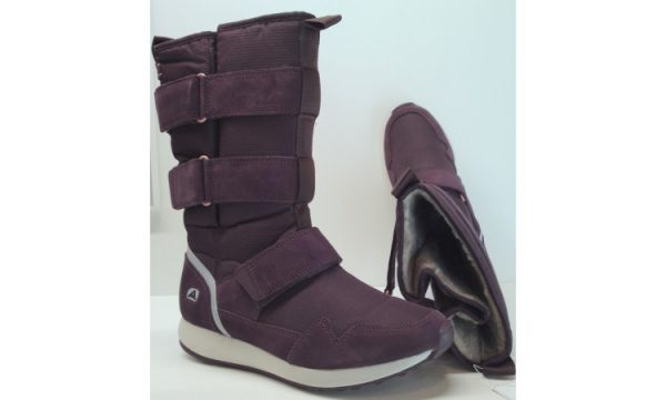 Clarks snowboots JINKS HI bordeaux red suede and textile lined