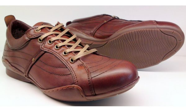 Clarks MAP IMAGE tan leather