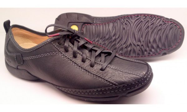 Clarks RELAX SUN black eather textile vey flexible laceshoe for men