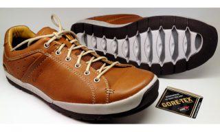 Clarks ROUND FUSE GTX tan brown leather          GORETEX waterproof