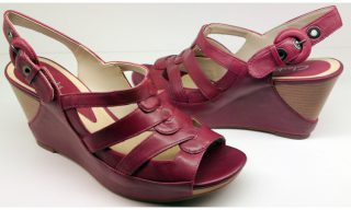 Clarks wedges sandal SILVER BEECH 2 red leather