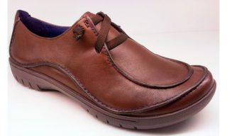 Clarks UNSTRUCTURED flat slip-on UN HOUSE walnut leather
