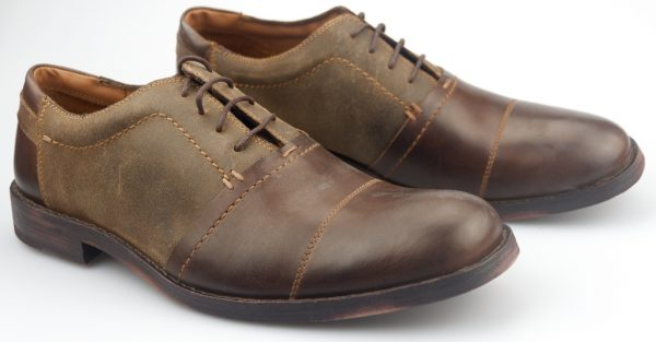 Clarks GETIT MAN brown laceshoe for men with leather sole
