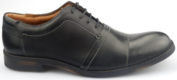 Clarks GETIT MAN black leather laceshoe for men with leather sole