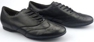 Gabor 44.146.27 black leather laceshoe for women