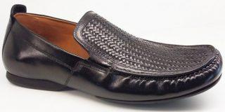 Clarks slip-on FLEX WEAVE 2 black interweave leather