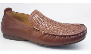 Clarks slip-on FLEX WEAVE 2 mahogany interweave leather