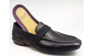 Clarks slip-on MYTH MAGIC flex light black leather