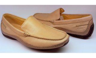 Clarks RAPID MOCC beige leather slip-on shoe for men