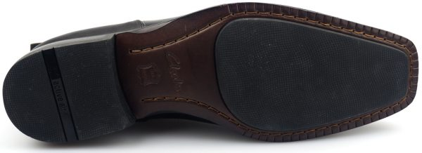 Clarks DECO BAR black leather chelsea boot for men