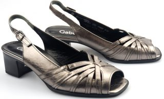 Gabor sandal 62.063.98 silver metallic leather