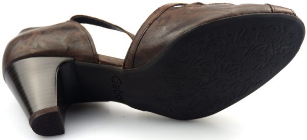 Gabor sandal 66.292.25 brown leather