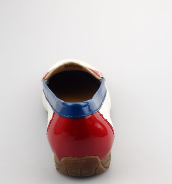 Gabor moccasins 64.210.20 white red blue leather