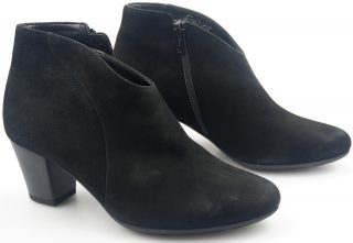 Gabor ankle boots 36.580.47 black suede    WIDE FIT
