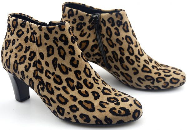 Gabor ankle boots 95.660.52 beige suede   with leopard print