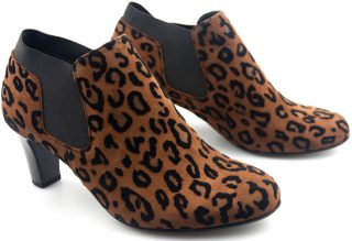 Gabor ankle boots 95.260.58 brown suede with leopard print