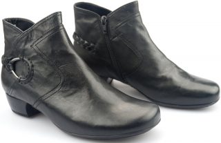 Gabor ankle boots 96.644.17 black leather