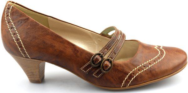 Gabor pumps 82.179.34 cognac leather