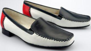 Gabor slip-on 86.340.69 black white red leather