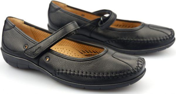 Gabor flat slip-on 02.518.57 soft cervo black leather