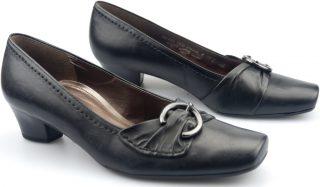 Gabor pumps 66.163.57 black leather  WIDE FIT