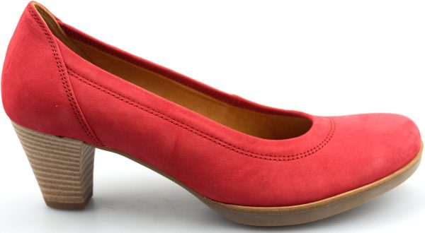 Gabor 42.180.48 cherry red soft nubuck women pumps