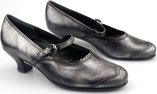 Gabor pumps 52.138.63 metallic argento leather