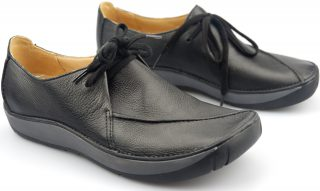 Clarks flat lace-up HORSE RUSTLE black leather