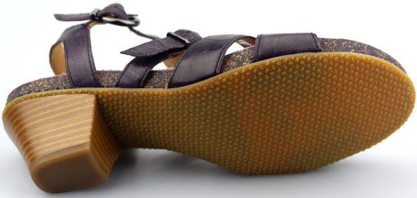 Gabor sandals 04.822.60 dark purple leather