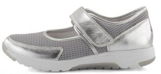 Gabor rollingsoft 66.972.10 silver leather mesh  VELCRO summer walking shoes