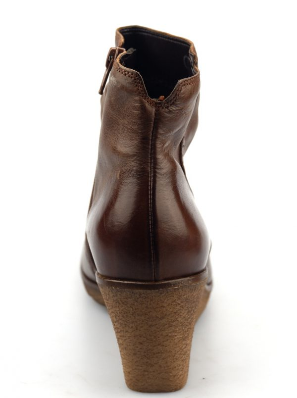 Gabor ankle boots 51.681.22 cognac brown leather WEDGES