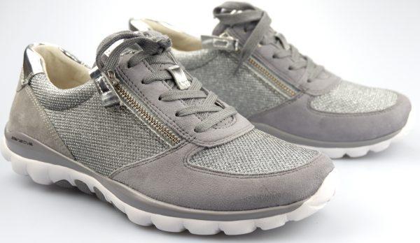 Gabor rollingsoft sensitive 66.968.15 grey nubuck leather